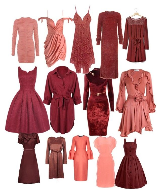 """""""Soft Autumn Reds and Coral"""" by carlie-ann on Polyvore featuring Agent Provocateur, TIBI, WithChic, Stine Goya, Raoul, Gap, Zimmermann, For Love & Lemons, Roksanda and Dorothee Schumacher"""