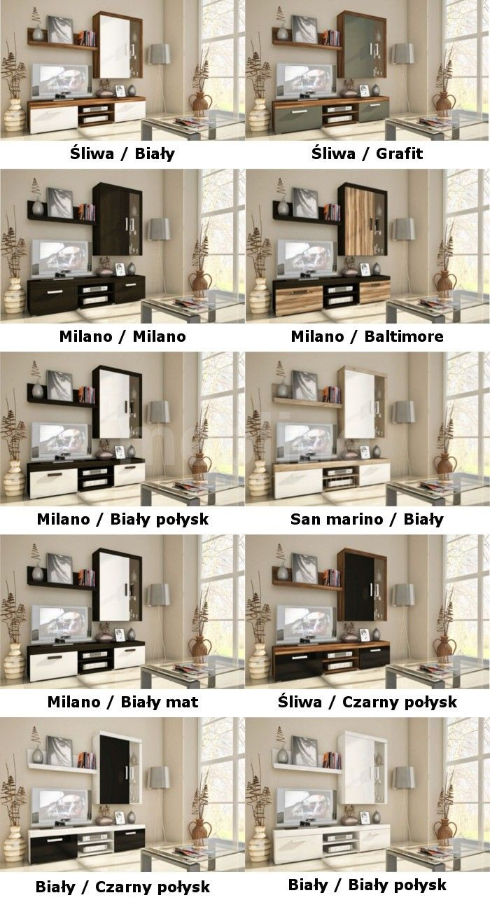 Promocje : Meble systemowe SAMBA MINI zestaw 1 śliwa/biały