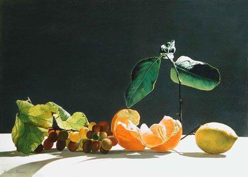 Мандарины, лимоны и виноград