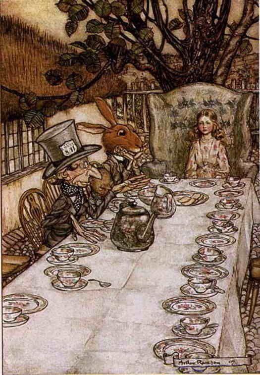 Arthur Rackham -- Alicia en el pais de las maravillas