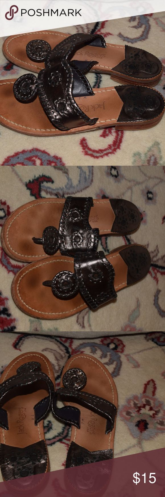 Jack Rogers Pewter Sandals Jack Rogers Pewter Sandals Jack Rogers Shoes Sandals