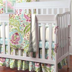 Kumari Garden 3-Piece Mini Crib Bedding Set