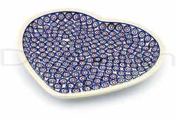 I love heart shaped dishes for serving food... and blue? Well, I love everything blue!  Polish pottery.  Yes. ♥