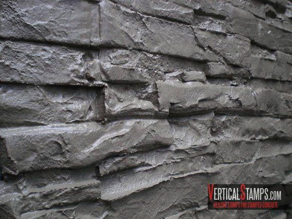 Silicone Stamp Vertical Stamped Concrete Decorative Veener Design Original Rock Vertictal Stamps Pattern Mold Stone Rock Diy Stamped Concrete Concrete Decor Concrete