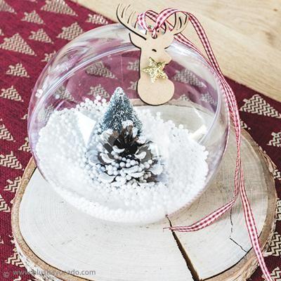 DIY Boule décorative transparente pour Noël