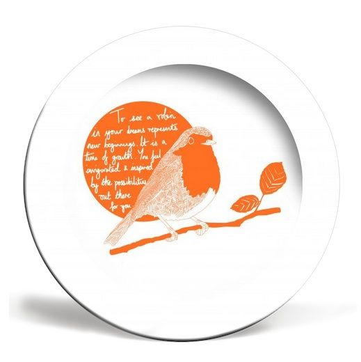 This artwork was inspired by Britain voting the robin as its national bird. Did you know that to see a robin in your dreams is a good omen? Dinner plate £15 http://www.artrookie.co.uk/item.php?type=5&id=5063  #dinner #robin #bird #garden #instaart #drawing #design #dailysketch #drawingaday #homeware #UK #independentdesigners #British #dreams #cuteanimals #birdvote #quote #inspirational #QOTD #print #kitchen #plate #food #drink