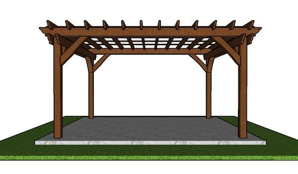 12x14 Pergola Plans Free Pdf Download Myoutdoorplans Free Woodworking Plans And Projects Diy Shed Wooden Playhouse Perg In 2020 Pergola Plans Pergola Diy Shed
