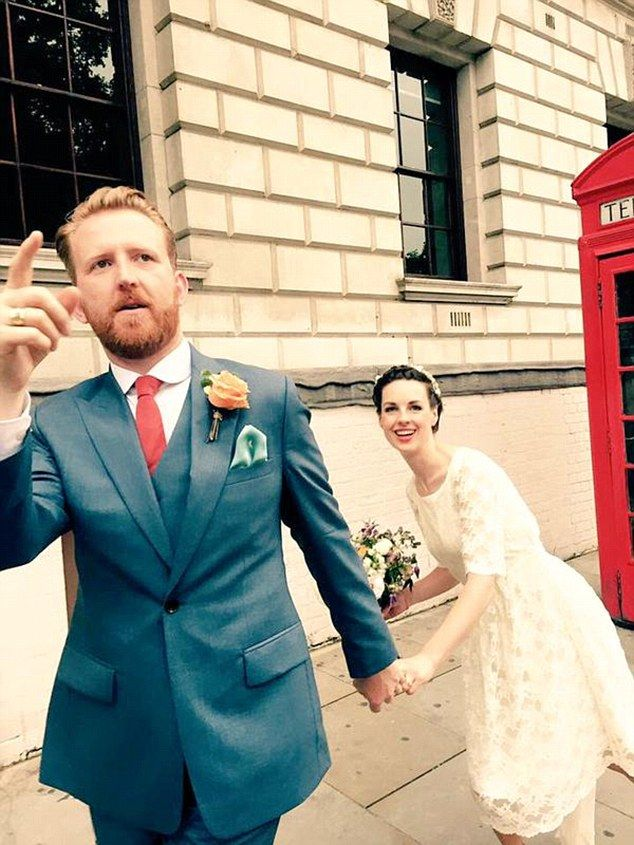 Tied the knot!Call The Midwife's Jessica Raine and Mr Selfridge's Tom Goodman-Hill shared pictures after they wed in secret this week