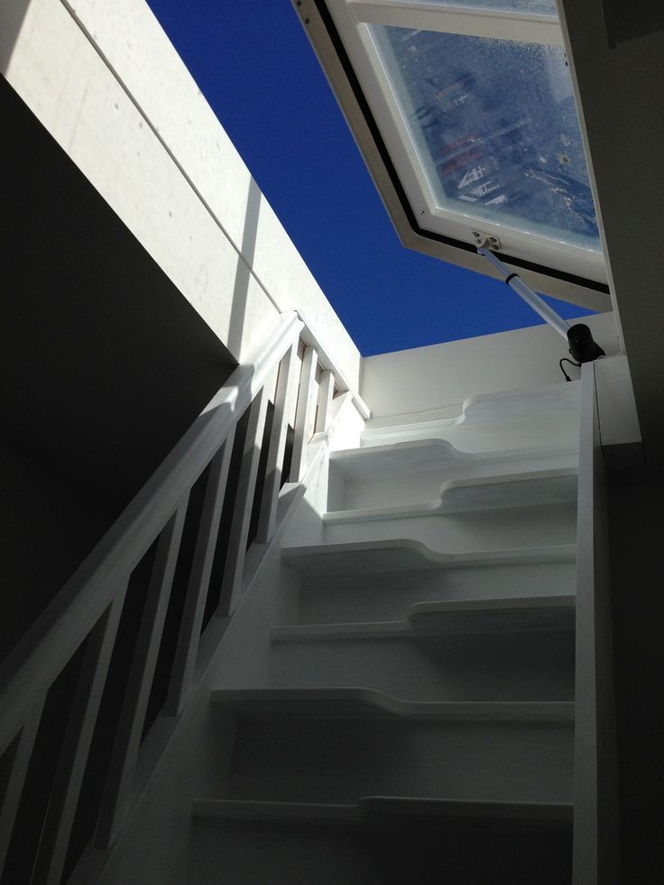 Stejl kotelttrappe. Loft hatch in Hove - Staka loft hatch applied for roof access