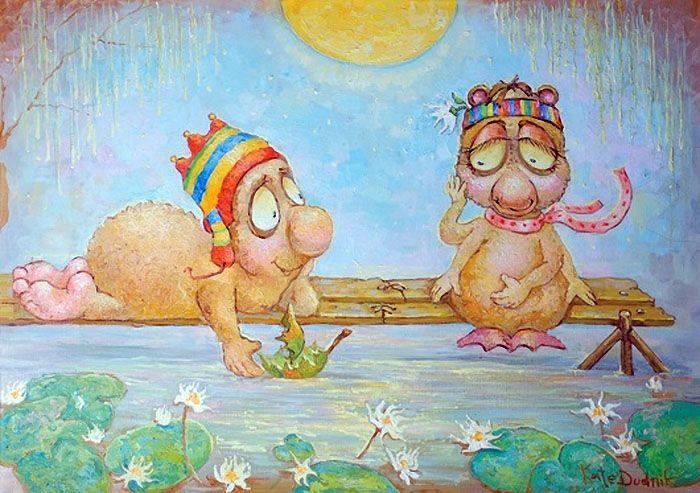 Разноцветный мир детства. Художница Катя Дудник.. Обсуждение на LiveInternet…