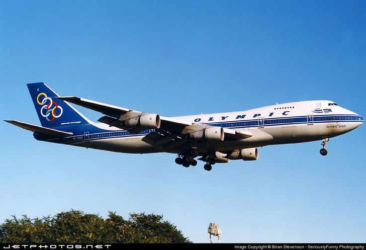 "Olympic Airways Boeing 747-212B SX-OAC ""Olympic Spirit"" on final approach to New York-JFK, March 1999. (Photo: Brian Stevenson)"