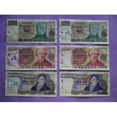 S&v Billetes Pesos Argentinos ++ Resellados Completa--todos - $ 950,00 en MercadoLibre