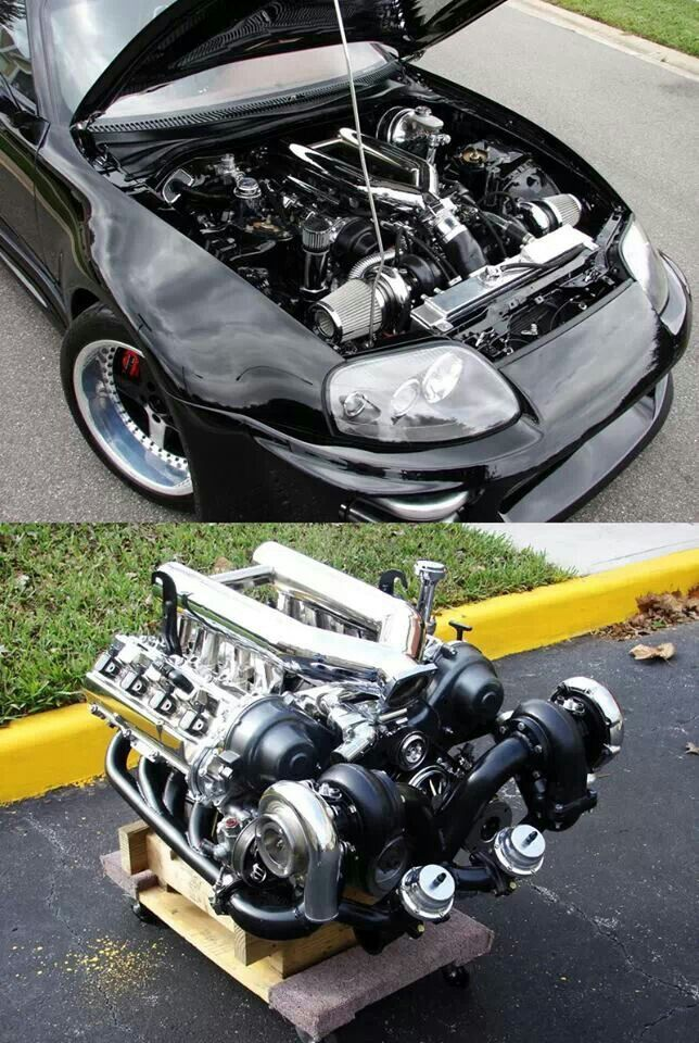 toyota supra with a twin turboed 4 7 v8 interesting and