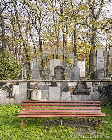 New Jewish cemetery in Kazimierz in Krakow, Poland . Street Miodowa 55.    http://jewishkrakow.net/pl/see/new-jewish-cemetery/