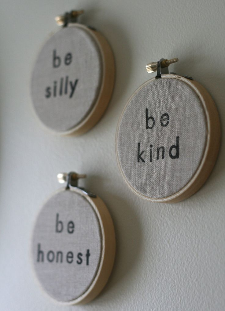 BOUTIQUE | Future Ideas | Stamped Embroidery Hoop Ornaments or Wall Decor