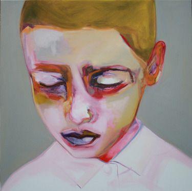"""Saatchi Online Artist Patricia Derks; Painting, """"green boy"""" #art"""