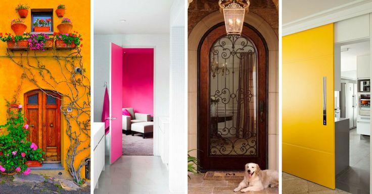 São portas são uma parte importante numa casa. Para além das suas funções de segurança e privacidade, as portas funcionam como elemento decorativo de uma c