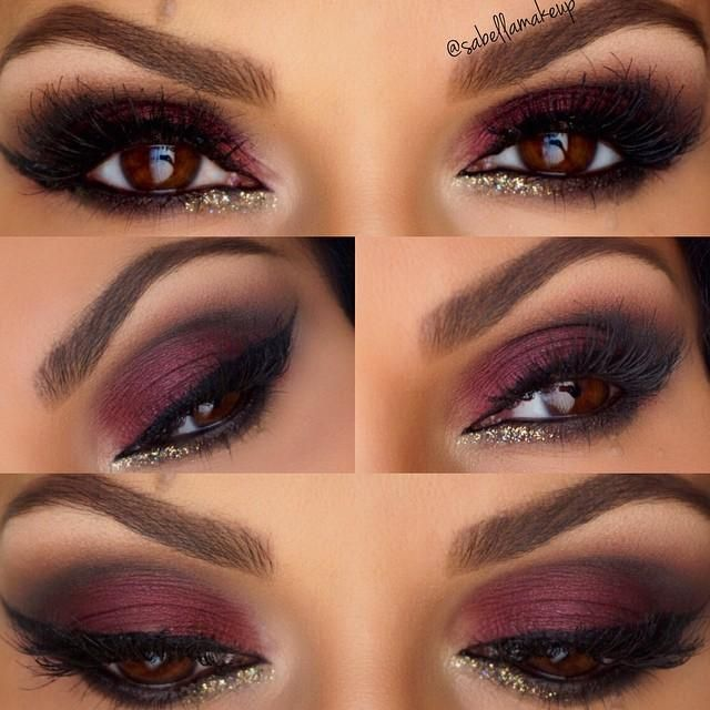 Plum & Gold EOTD - Trends & Style