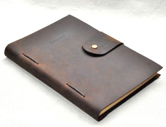 custom leather line journal  notebook A5 size  free by CoverCafe