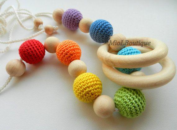 Collana di perline arcobaleno collana dentizione di MioLBoutique