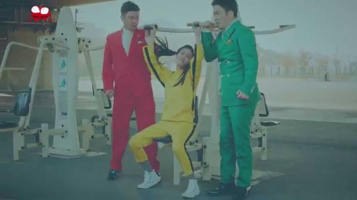 T-ARA (feat.  Chopsticks Brothers) - Little Apple. More proof that you just can't do the anime nosebleed gag in live-action without it coming off as completely gross. And where'd the other two go again?