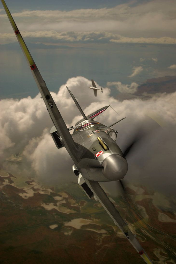 Spitfire in Steep Bank