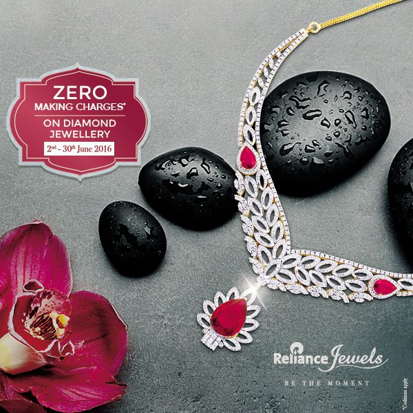 Zero Making Charges* On Diamond Jewellery Valid in Delhi NCR, Uttar Pradesh, Punjab & Haryana Showrooms Only Beautify your best moments with Elegance. Reliance Jewels Be The Moment www.reliancejewels.com #Reliance #RelianceJewels #Jewel #Jewellery #Offer #Diamond