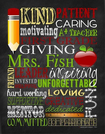 teacher subway art : teacher appreciation : designsbycp.com