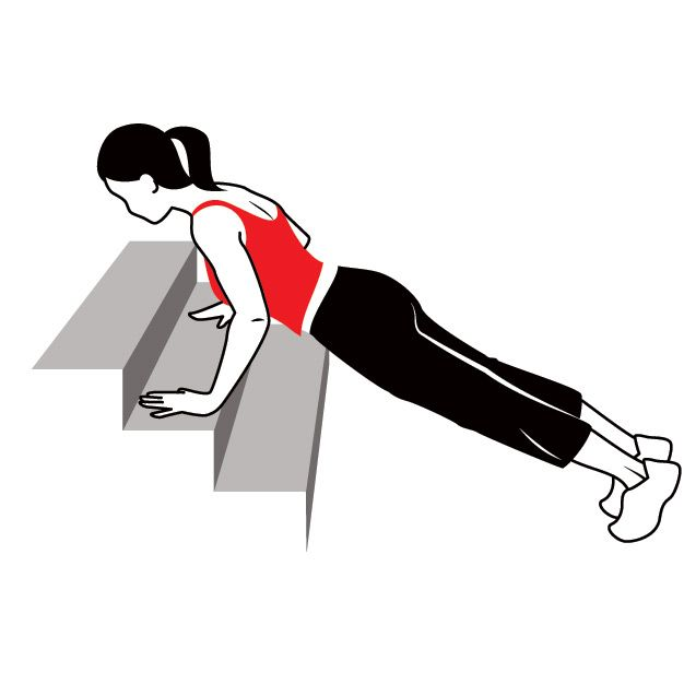 Working up to REAL push-ups.  Another goal - this one is going to be much easier!
