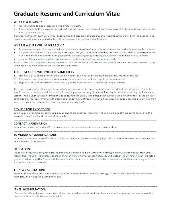 Great Cv Template Masters Application Ideas