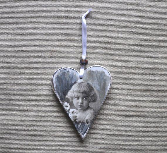 Tenture murale coeur à suspendre coeur tenture par AgaArtFactory