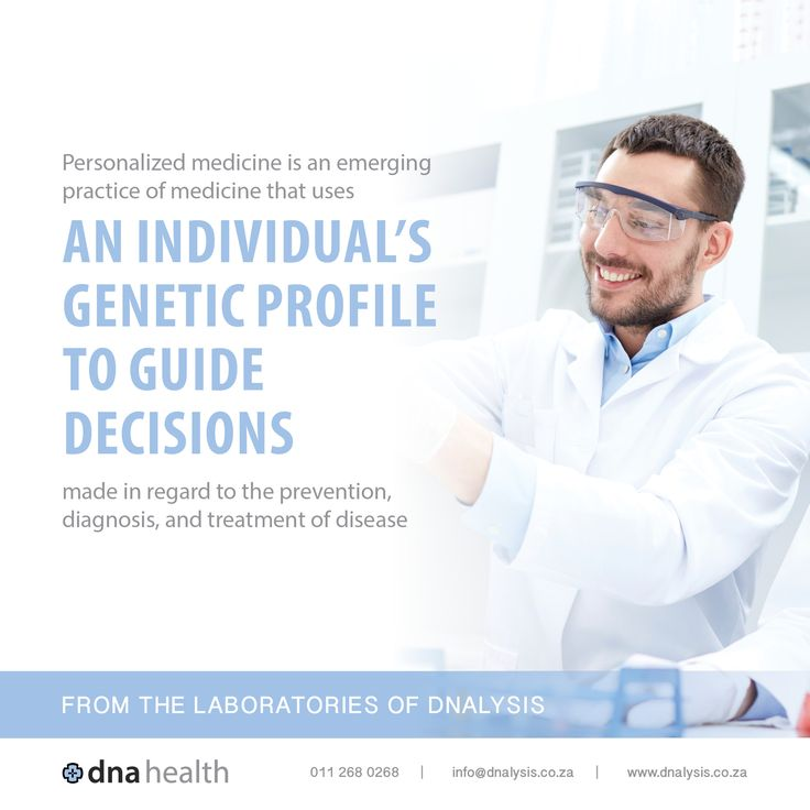 Personalized medicine is an emerging practice of medicine that uses an individual's genetic profile to guide decisions made in regard to the prevention, diagnosis, and treatment of disease.  #dnalysis #dnahealth