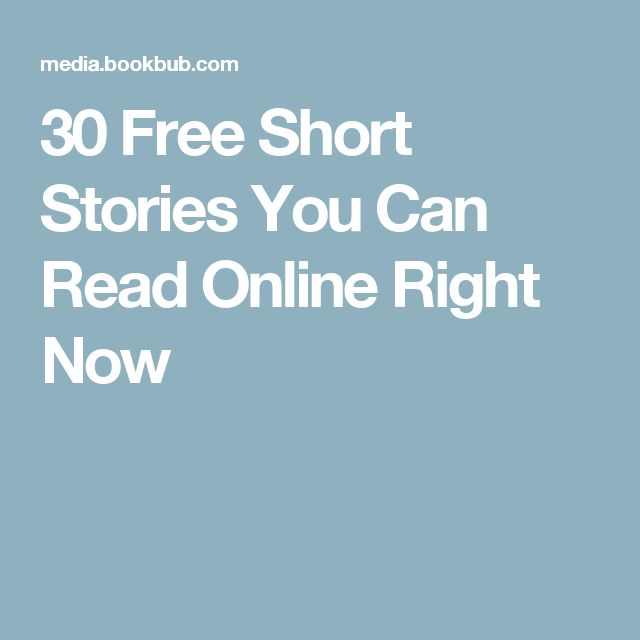 30 Free Short Stories You Can Read Online Right Now