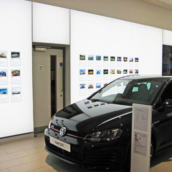 Lightboxes show the way for Volkswagen's biggest UK dealership - Retail Design…