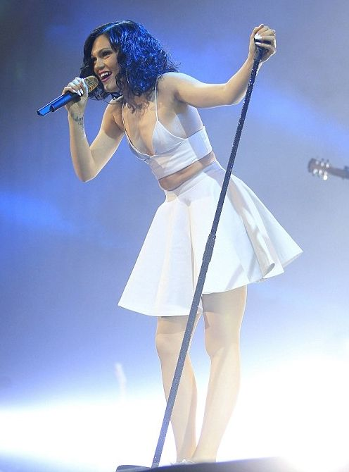 Jessie J flashes pins in racy fringed costume at Rock in Rio Lisbon