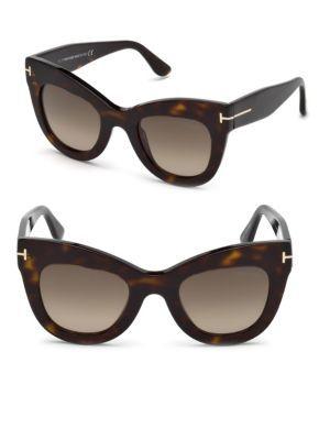 fe11347ebd3 Karina 47Mm Cat Eye Sunglasses - Dark Havana  Gradient Roviex