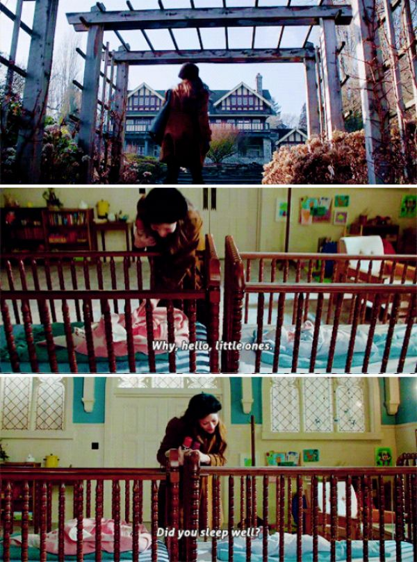 """""""Hello, little ones. Did you sleep well?"""" - Belle (taking care of Baby Neal and Zelena's daughter)) #OnceUponATime"""
