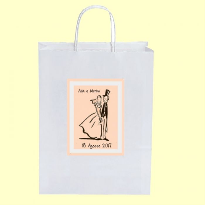 100 Wedding Bag personalizzate WB2707171 cm 18x8x24 - + omaggi