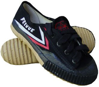 Lee. Kung fu shoe with ties. Black Feiyue Shoes