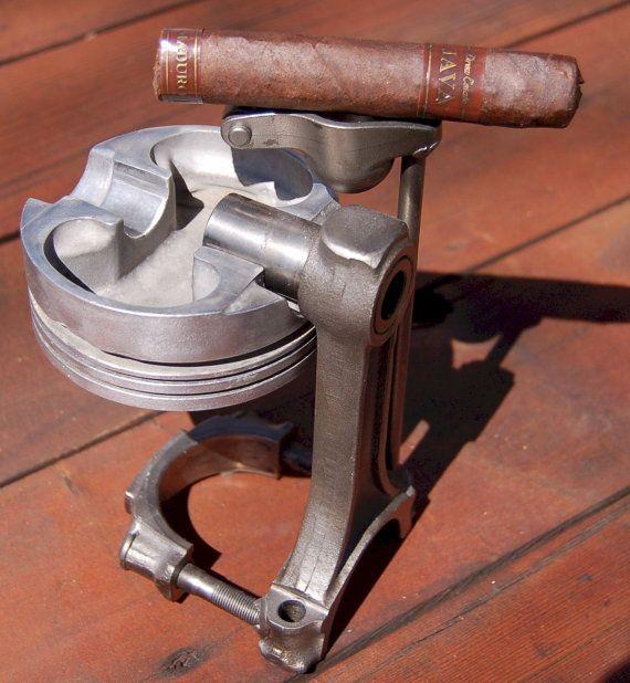 Cigar Ashtray made from Jeep Engine parts, Automotive, Car, Garage, Metal Work, Piston, Smoking, Man Cave