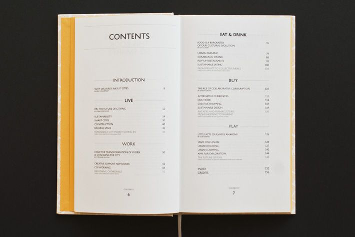 book table of contents design