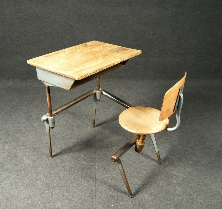 AreaNeo | Jean Prouve school desk 1930 - Design of the Times - Jean Prouve - School desk colegio escuela banco escritorio