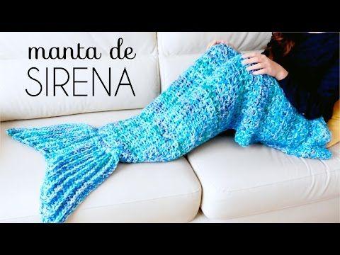 Reciclando con Erika : Manta o poncho de Cola de Sirena a crochet                                                                                                                                                                                 Más
