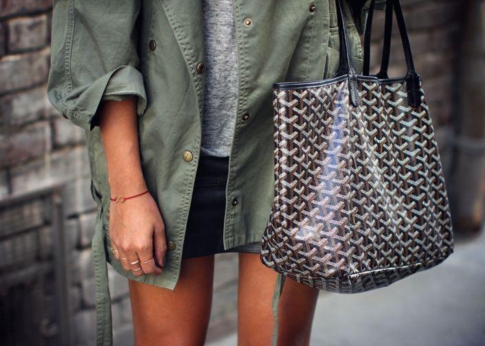 Khaki and Goyard. + +....x
