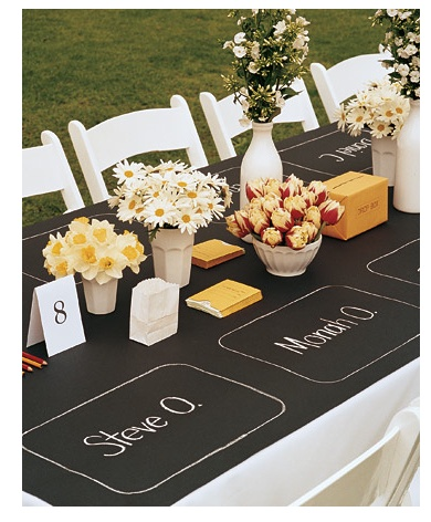 Informal Outdoor Wedding Table Decor A M Wedding