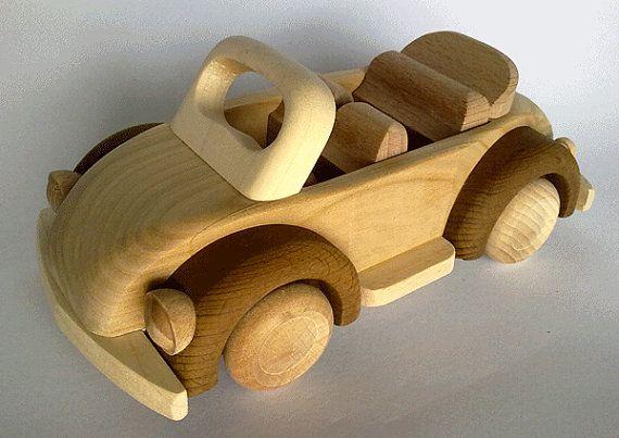 Handcrafted Wooden VW Beetle Cabrio  by PolishFolkArtShop on Etsy, £11.80