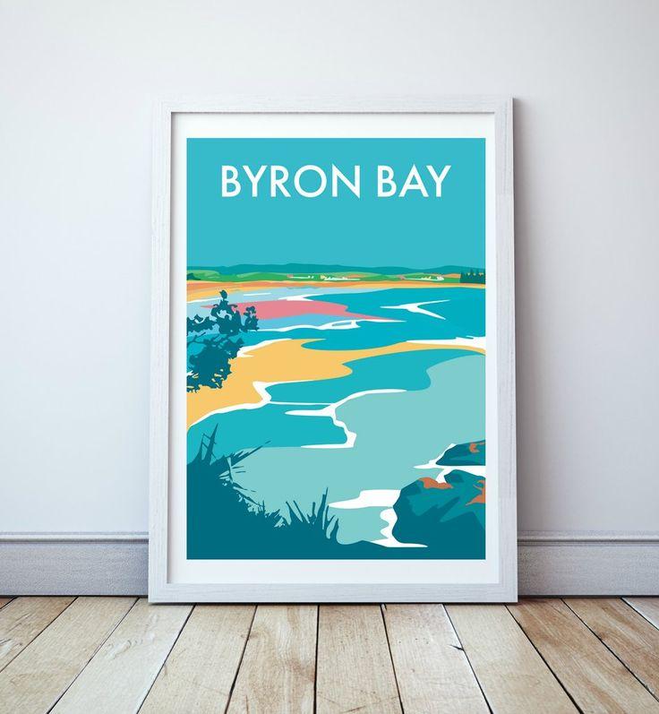 Byron Bay Travel Print