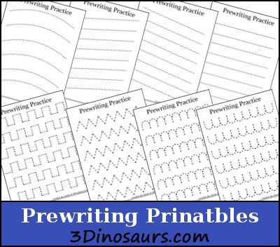 Free Prewriting Practice Printables - Money Saving Mom®