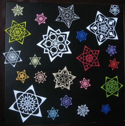 Awesome hand cut snowflakes!