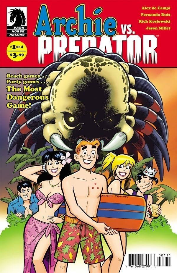 ARCHIE VS PREDATOR #1 Dark Horse Comics Standard cover NM 2015 Vault 35